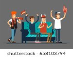 vector flat illustration people ... | Shutterstock .eps vector #658103794