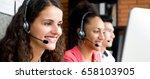 group of multiethnic smiling... | Shutterstock . vector #658103905