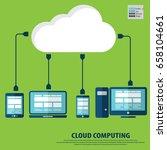 cloud computing concept design. ... | Shutterstock .eps vector #658104661
