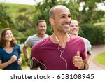 portrait of a happy cheerful... | Shutterstock . vector #658108945