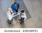 high angle view of senior... | Shutterstock . vector #658108951