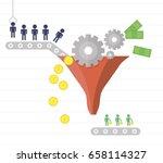 conversion rate optimization.... | Shutterstock .eps vector #658114327