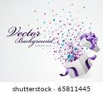 vector background with open gift | Shutterstock .eps vector #65811445