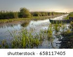 beautiful river with green... | Shutterstock . vector #658117405
