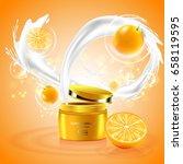 luxury cosmetic bottle package...   Shutterstock .eps vector #658119595