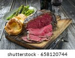 barbecue dry aged rib of beef... | Shutterstock . vector #658120744