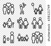 father icons set. set of 9... | Shutterstock .eps vector #658121749