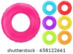 swim rings set. inflatable... | Shutterstock .eps vector #658122661