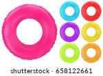 swim rings set. inflatable... | Shutterstock .eps vector #658122661
