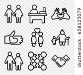 together icons set. set of 9... | Shutterstock .eps vector #658125079