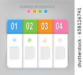 infographic template of four... | Shutterstock .eps vector #658126741