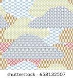 japanese pattern seamless... | Shutterstock .eps vector #658132507