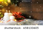 candels with christmas... | Shutterstock . vector #658133605
