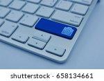 camera flat icon on modern... | Shutterstock . vector #658134661