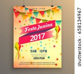 festa junina party celebration... | Shutterstock .eps vector #658134967