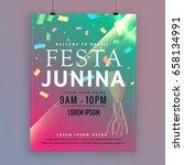 festa junina flyer template for ...   Shutterstock .eps vector #658134991