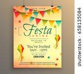elegant festa junina season... | Shutterstock .eps vector #658135084