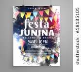 poster design for festa junina... | Shutterstock .eps vector #658135105