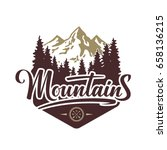 mountains hand drawn... | Shutterstock .eps vector #658136215