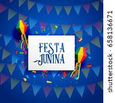 festa junina celebration... | Shutterstock .eps vector #658136671