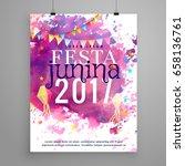 abstract festa junina 2017... | Shutterstock .eps vector #658136761