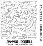 banner doodle line vector set | Shutterstock .eps vector #658137421