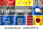 stay connected connection... | Shutterstock . vector #658139971