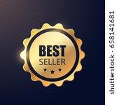 best seller badge. vector... | Shutterstock .eps vector #658141681
