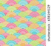seamless background  eastern... | Shutterstock .eps vector #658144129