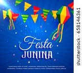 festa junina party greeting... | Shutterstock .eps vector #658146361