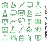 analysis icons set. set of 25... | Shutterstock .eps vector #658146391