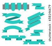 set of ribbons bookmarks in... | Shutterstock . vector #658146679