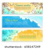 summer vacation. set of... | Shutterstock .eps vector #658147249