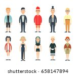 flat male and female teens...   Shutterstock .eps vector #658147894