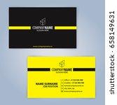 business card template. yellow... | Shutterstock .eps vector #658149631
