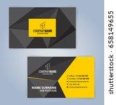 business card template. yellow...   Shutterstock .eps vector #658149655