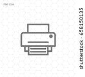 printer icon  vector...   Shutterstock .eps vector #658150135