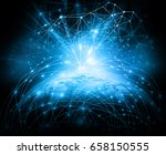 best internet concept of global ... | Shutterstock . vector #658150555