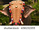 decorated indian male elephant... | Shutterstock . vector #658152355