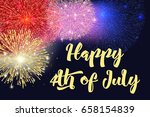 happy 4th of july  independence ... | Shutterstock .eps vector #658154839