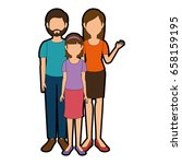 avatar family icon | Shutterstock .eps vector #658159195
