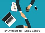 business partner handshake deal ... | Shutterstock .eps vector #658162591