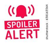 spoiler alert. alarm icon. flat ... | Shutterstock .eps vector #658165564