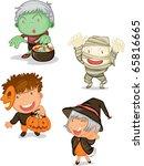 illustration of halloween  on a ... | Shutterstock . vector #65816665
