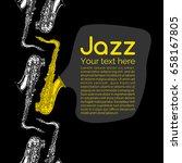 vector illustration of jazz and ... | Shutterstock .eps vector #658167805