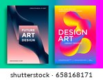 colorful abstract poster design.... | Shutterstock .eps vector #658168171