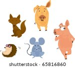 illustration of various animals ... | Shutterstock . vector #65816860