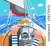 illustration depicting a boat... | Shutterstock .eps vector #658170421