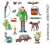 set of hunting sports. the... | Shutterstock .eps vector #658170427