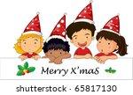 illustration of merry x'mas... | Shutterstock .eps vector #65817130
